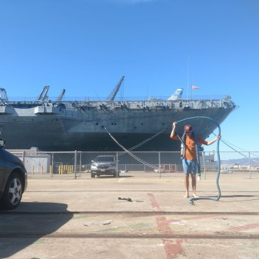 Laughlin and the USS Hornet. Alameda, California.